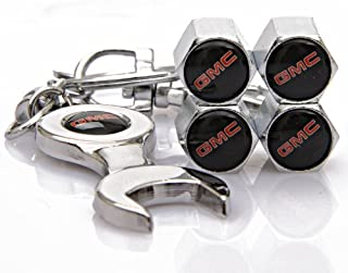 GMC Tire Valve Caps with Bonus Wrench Keychain(BW)