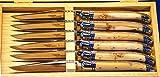 Laguiole GOYON-CHAZEAU PRESTIGE - Juego de cuchillos de carne (6 piezas, madera de enebro)