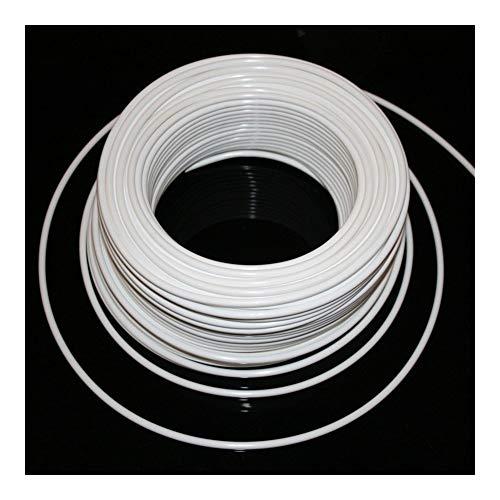 """YEZIO Outils de plomberie 1/4"""" 3/8"""" PE Tuyau 10 m / 20 m Blanc Plomberie Tuyau Flexible de raccordement de connecteur for l'eau RO Système de Filtration par Osmose Inverse Aquarium Raccords de tuyaux"""