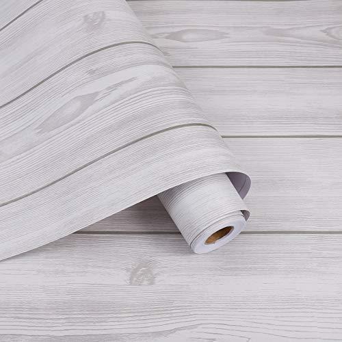 Firtink 10 m de papel pintado de madera, autoadhesivo, con vetas de...