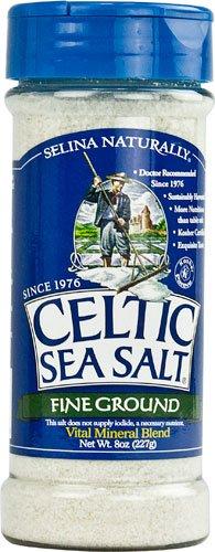 Selina Naturally Celtic Sea Salt Fine Ground Shaker -- 8 oz - 2 pc