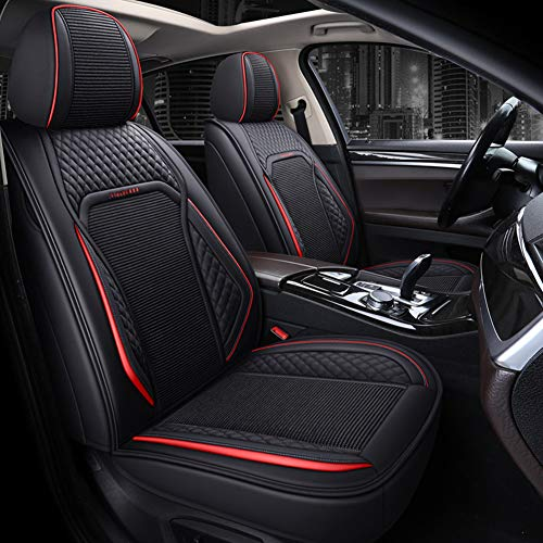 RR-YRC 5-Seater Car Seat Cover, SUV Pickup Truck General Car Interior Accessories Set, Breathable Fabric (Multiple Colors, Full Set),Black
