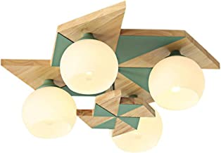 Ceiling Lamp Bedroom Creative Modern Solid Wood Lamps