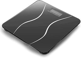KLT Báscula de pesaje de alta precisión para el baño de la báscula electrónica inteligente de la báscula de vidrio de peso de la salud de la balanza de baño 180 Kg/400 libras de cocina negra