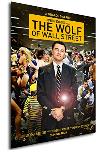 Instabuy Poster The Wolf of Wall Street (El Lobo de Wall Street) Vintage Movie Poster - A3 (42x30 cm)