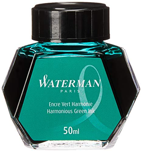 Waterman S0110770 Füllfederhaltertinte im 50 ml Tintenfass harmonious green