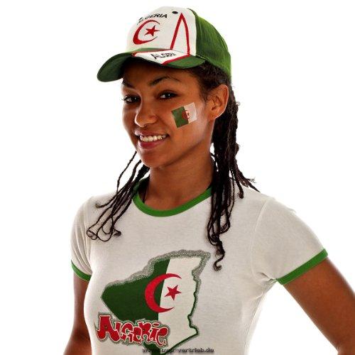 5 x Algerien Tattoo Fan Fahnen Set - Algeria Temporary Tattoo Flag (5)