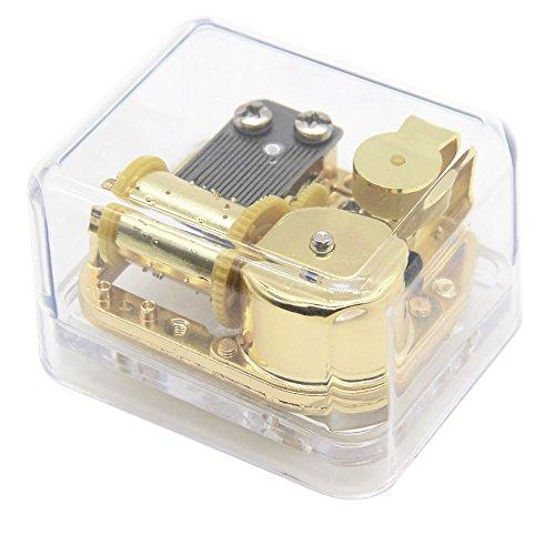 Aveson Spieldose / Musikspielwerk, einzigartiges Design, Gehäuse aus transparentem Acryl, mechanisch, aufziehbar  For Elise
