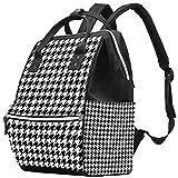 WJJSXKA Mochilas Bolsa de pañales Laptop Notebook Mochila de viaje Senderismo Daypack para Mujeres Hombres - Patrón de Shinoori de vector de pata de gallo