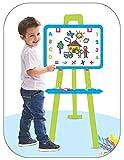Sajani 5 In1 Easel Board Kids White Drawing Board & Blue Chalk Writing