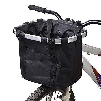 Panier pour vélo, porte-bébé pliable pour chien, petit chien, panier avant amovible pour guidon de vélo, fixation rapide et facile à installer, sac de vélo amovible