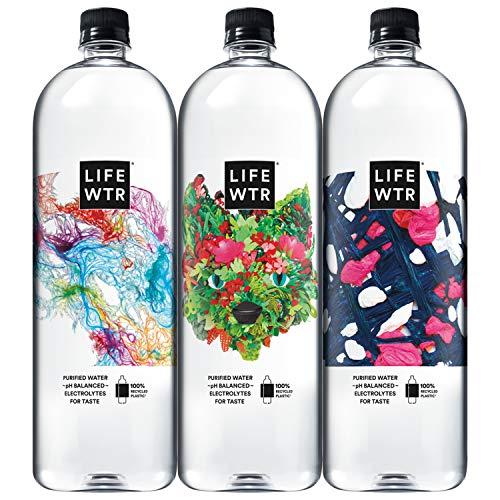 LIFEWTR Premium Purified Water, pH Balanced with Electrolytes For Taste, 1.5L Bottles (8 Pack)