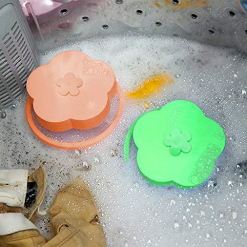 Wffo - 4 bolsas de malla reutilizables para colada (verde y naranja)