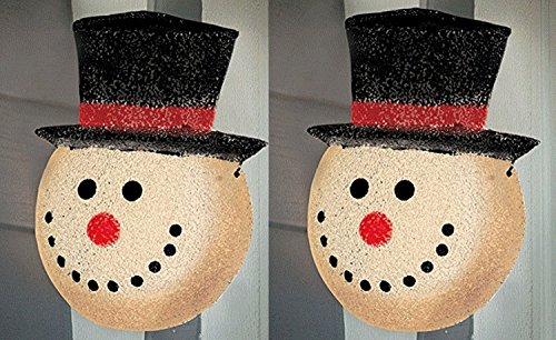 Snowman Holiday Christmas Porch Light Covers, Set of 2