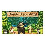 Ameolone Alfombrilla de baño con diseño de zorro de la selva para fiesta de danza