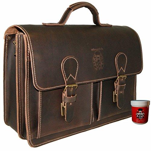Baron Of Maltzahn Men's Briefcase Shoulder Bag Pasteur Organic Leather One Size Brown