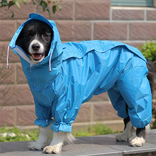 None/Brand All-Inclusive Raincoat for Dogs with Open Belly for Large, Medium and Small Dogs One-Piece Four-Legged Clothes for Pets Reflective Raincoat