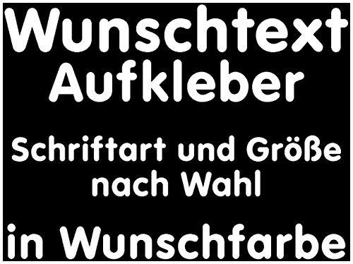 Samunshi® Aufkleber Autoaufkleber Name Wunschname Sticker Wunschtext Personalisierbar variabel weiß