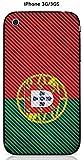 Onozo Coque Apple iPhone 3G / 3GS Design Drapeau Portugal Vintage Effet Carbone