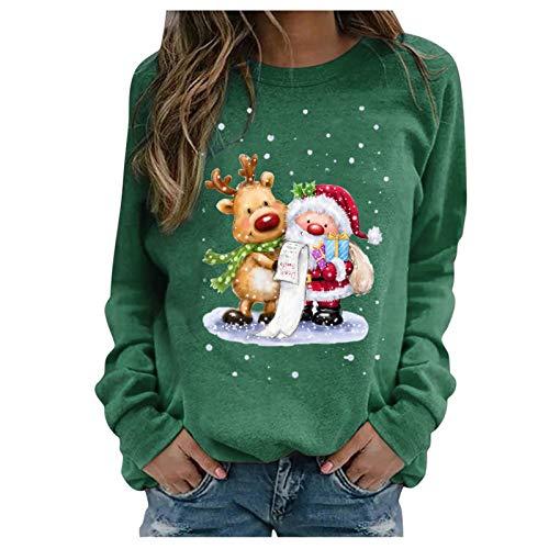 SicongHT Weihnachten Pullover Damen, Frauen Weihnachtspulli Rudolph Rentier Elfe...