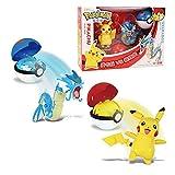 Pokemon Elf Ball Pikachu Pocket Monster Deformation Dolls Anime Figura Gyarados Pokeball Figura De Acción Modelo Toy Set