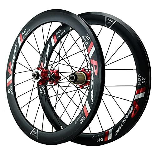 ZPPZYE Ruedas Bicicleta Montaña 20' 22 Pulgadas, Aleación de Aluminio Llanta Híbrida/MTB Rodamiento Sellado Rueda 24 Hoyos para 7-12 Velocidade (Size : 20 Inch)