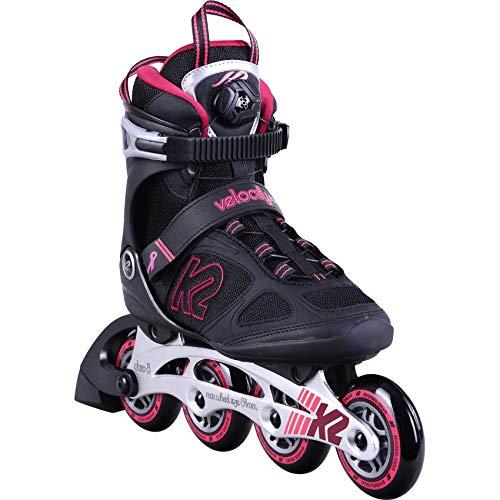 K2 Inline Skates VELOCITY 84 BOA W Für Damen Mit K2 Softboot, Black - Purple, 30D0392