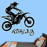 Etiqueta engomada de la pared del vinilo de la motocicleta decoración floral del arte de la vid