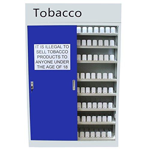 MonsterShop Zigarettenschrank Sicherheitsschrank Zigarettenvitrine Tabakvitrine Tabakschrank Zigarettenständer in Weiß