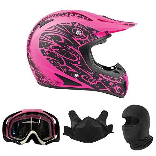 Typhoon Women's Snocross Snowmobile Helmet & Goggles Combo