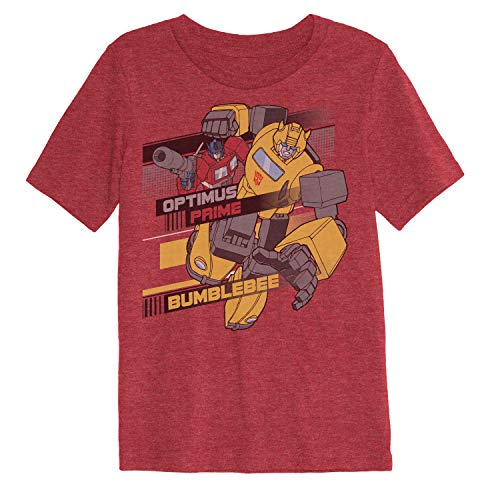 Jumping Beans Boys 4-10 Transformers Optimus Prime & Bumblebee Graphic Tee 7 Red Heather