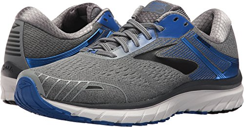 Brooks Men's Adrenaline GTS 18 Grey/Blue/Black 10 EE US