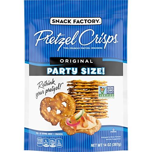 Snack Factory Pretzel Crisps Original Flavor Large Party Size 14 Ounce