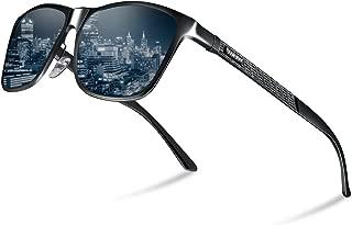 HKTI 偏光サングラス メンズ 軽量 UV400アルミニウム・マグネシウム合金 スポーツサングラス- 運転 自転車 釣り テニス スキー ランニング ゴルフ