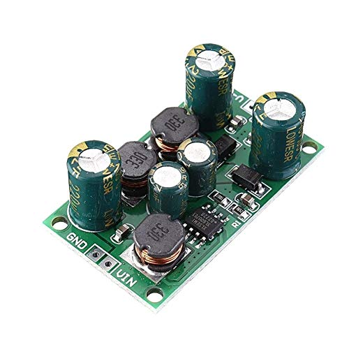 ZhanPing 8W 3-24V to 5V 6V 9V 10V 12V 15V 18V 24V 2 in 1 Boost-Buck Dual Voltage Power Supply High Efficiency Module for ADC DAC LCD OP-AMP Speaker Arduino module board (Size : 6V)