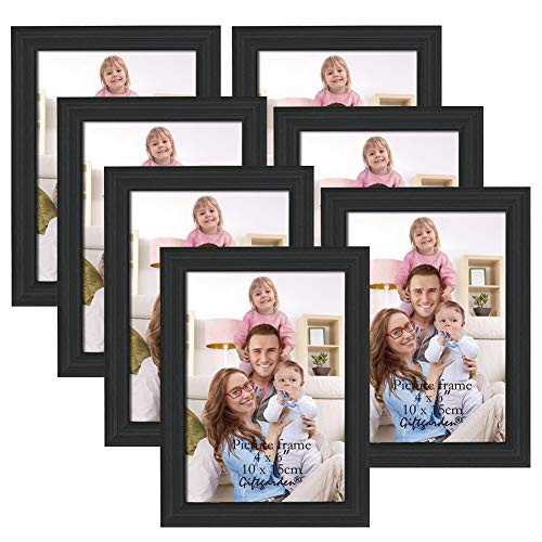 Giftgarden 6x4 Photo Frames Glass Black Frames for Tabletop or Wall...