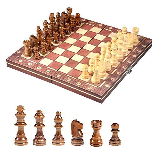 国際チェスセット玩具 チェス盤 木製 携帯型 マグネット 折りたたむボード ポータブル子供 旅行 家庭 娯楽 エンターテイメントゲーム プレゼント