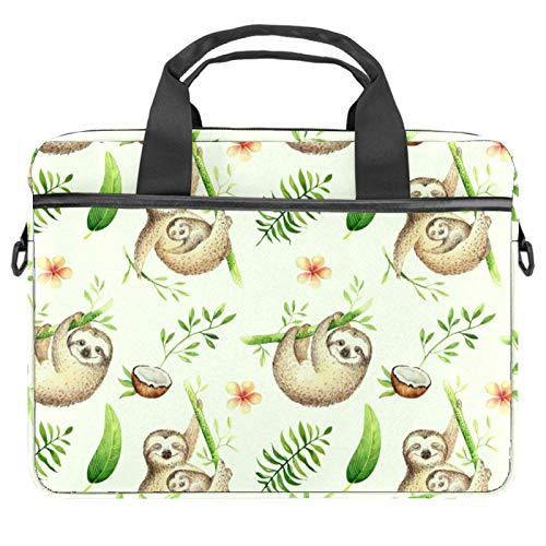 Laptop Bag Cute Sloth and Baby Notebook Sleeve with Handle 13.4-14.5 inches Carrying Shoulder Bag Briefcase