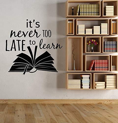 Lema inspirador pegatinas de pared biblioteca escolar sala de lectura aula estudio decoración de la habitación de los niños pegatinas de pared A4 43x42cm