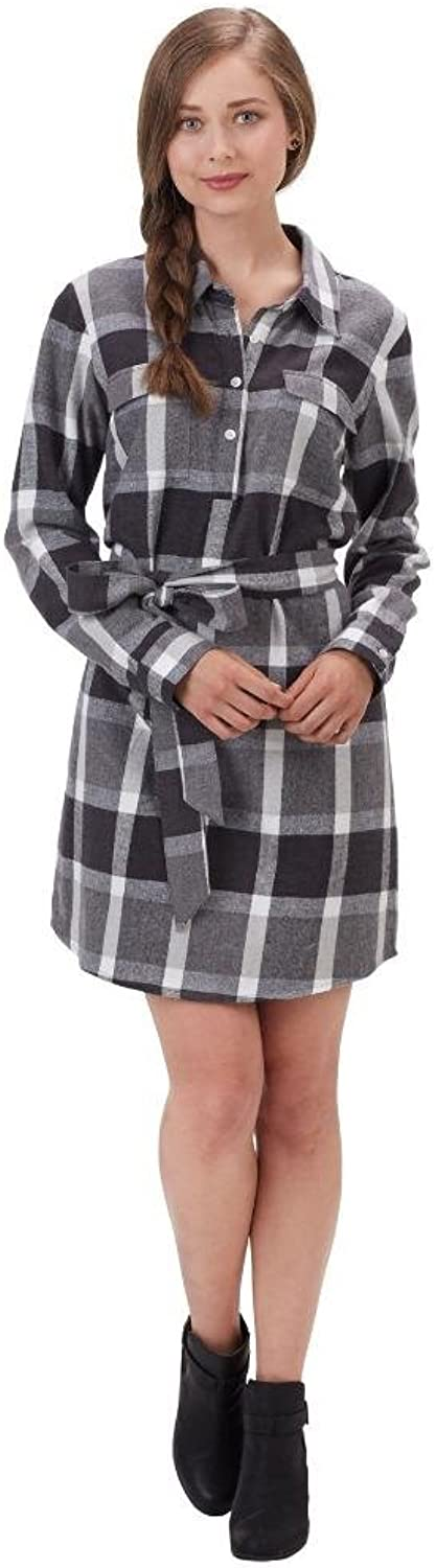Mud Pie Womens Plaid Bale Flannel Shirt Dress