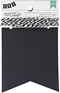 DIY Shop Chalkboard Notch Banner by American Crafts | 24-piece | Includes string