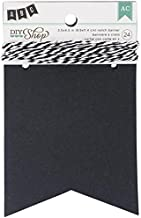 DIY Shop Chalkboard Notch Banner by American Crafts | 24-piece | Includes string
