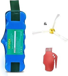 GPISEN 4500 mAh batería para aspiradora Roomba 500, 600, 700, 800, 900, R3, 80501,4419696 Scooba 450 Series con Scraper y ...