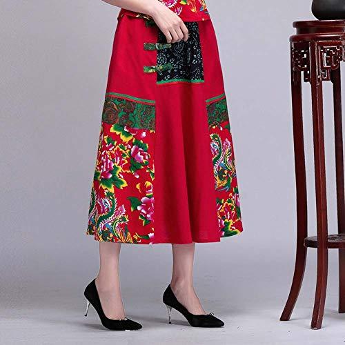 YYH Damesrok Kleurrijke Vrouwen Indische hippie Gypsy Sequin Zomer Sundress Maxi-buikdansrok H