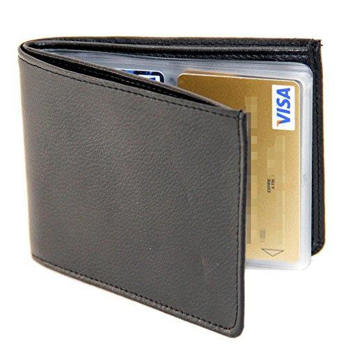 Portafoglio anti-RFID - Vera pelle - Capacità 24 carte - Sacco di soldi