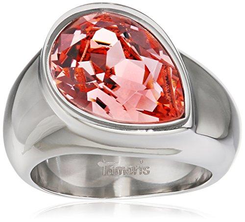 Tamaris Damen-Ring Amy Edelstahl Zirkonia rosa Gr. 58 (18.5) - A00210297