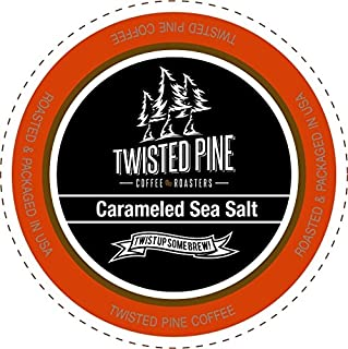 Twisted Pine Coffee Carameled Sea Salt, Flavored Coffee, Single-Serve Cups for Keurig K-Cup Brewers, 80 Count