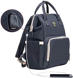 سان فينو حقيبة مستلزمات الاطفال  - أسود