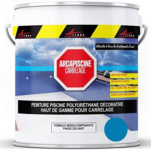 Arcane Industries - Pintura para piscina, baldosas, más resistente que una pintura epoxi de poliuretano, color azul cielo ral 5015-20 kg (hasta 65 m2 para 2 capas)