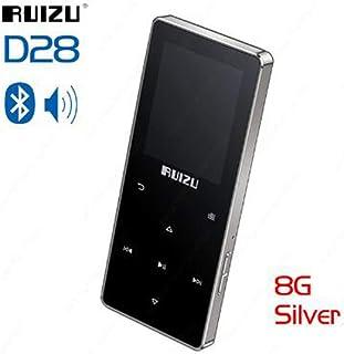 TZOU RUIZU D28 Portable Bluetooth MP3 Player Built-in Speaker Support FM Recorder E-Book Clock Pedometer 8GB Silver Grey